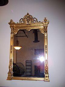 A Renaissance Revival Gilt Pier Mirror, 19th century