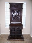 A Large and Well-Carved Oak Prie Dieu, late 18th-early 19th cent