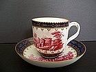 A Very Fine 18th Century Doccia Teacup and Saucer