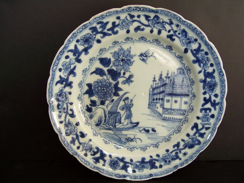 An Interesting 18th Century Chinese Export Plate