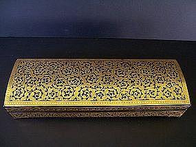 A Very Striking Burmese Shwei-Zawa Writing Box