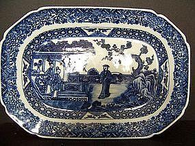 A Fine Qianlong (1736-1795) Blue and White Tureen Base
