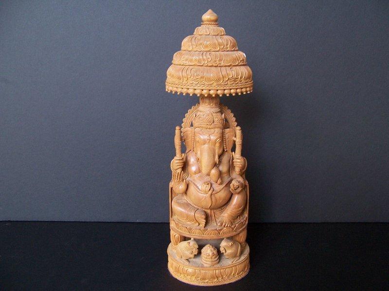 A Superbly Carved Sandalwood Ganesh from Jasailmer
