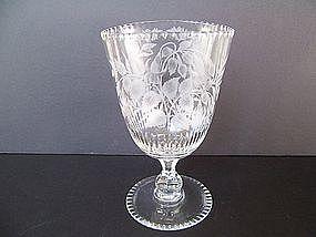 A Fine Itaglio Cut Crystal Vessel, Fin de Siecle