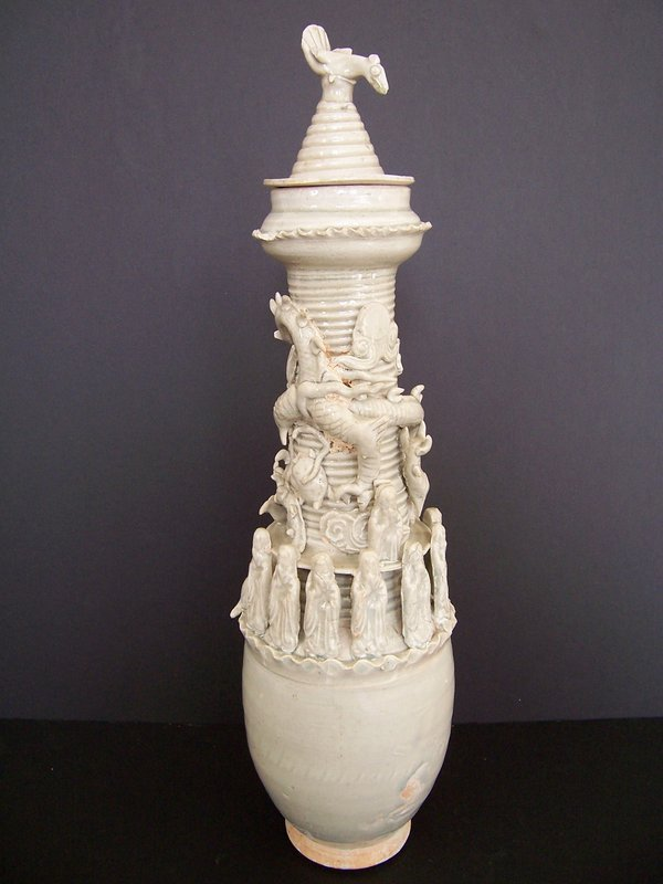 A Large Song Dynasty Funerary Qingbai Urn ca 1225 AD