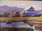 A Beautiful Original Oil Painting From Inle Lake Burma