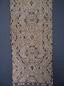 A Good Handwoven Table Runner from Laos, late 1980's