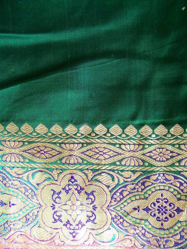 A Beautiful Vintage Indian Silk Sari