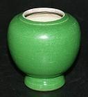 Apple green Ink pot, Qianlong ( 1736 - 1795 )
