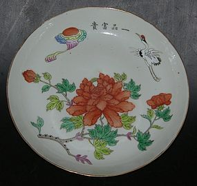 #1 Large flower plate, Tongzhi ( 1862 - 1874 )