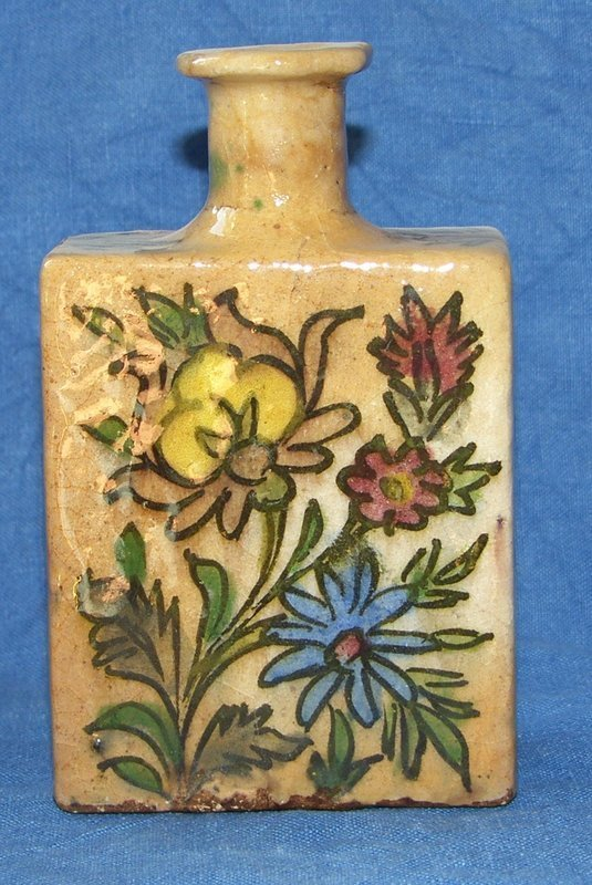 Faience bottle from first half of 18 century