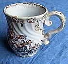 Rococo faience jug in light blue glaze, around 1770
