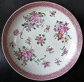 Famille rose plate, Qianlong (1736 -1795)