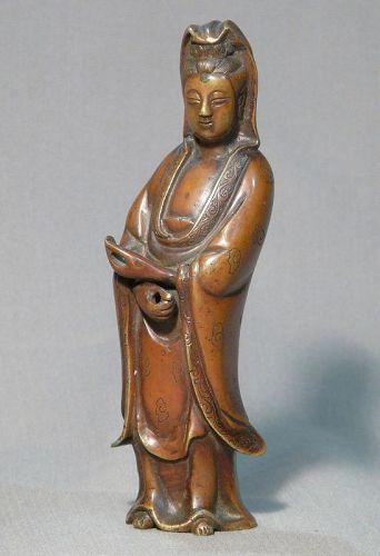 Guan yin in bronze