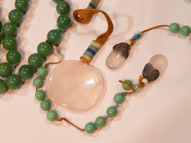 Chinese Hard Stone Bead Necklace