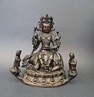 Ming Dynasty Simhananda-Avalokitesvara (Guanyin) & acolytes