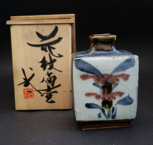 KAWAI Buichi ( 1908�1989 ) square, bottle-shaped vase