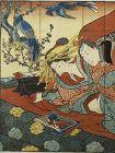 Eight Japaese Erotic Prints Shunga, Late Edo 19th cent.