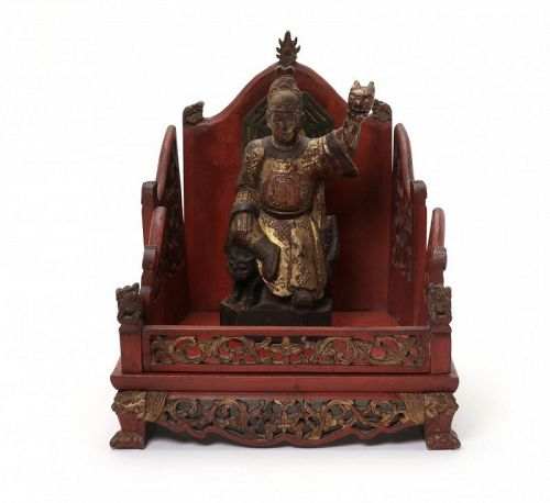 Chinese Sculpture of Sun Simiao, the Daoist God of Medicine, Yao Wang.