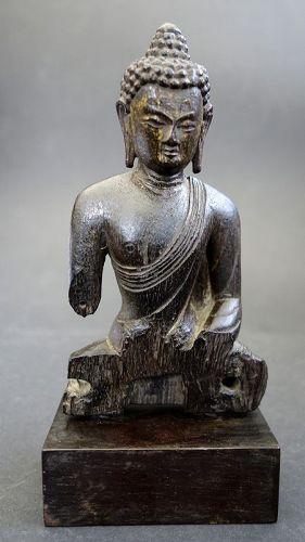 Tibetan Fine Zitan Wood torso of Sakyamuni Buddha.