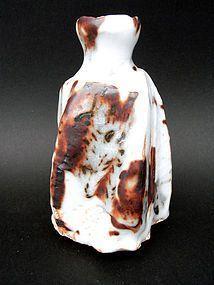Shino Ware Tokkuri Vase by artist Tsukamoto Haruhiko