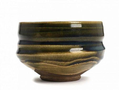 Japanese Vintage Oribe Chawan, Tea Bowl