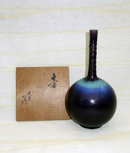Elegant Vase by LNT Tokuda Yasokichi III (1933–2009)
