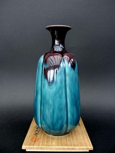 Great Kutani Vase by Tokuda Yasokichi II father of LNT Yasokichi