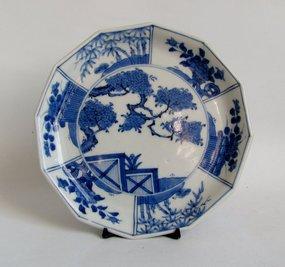 Fine Ko Imari Dodecagonal Dish Edo 19C