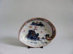 Fine Ko Imari Abalone shaped Dish Mid Edo 18C