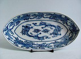 Ko Imari Unryu Matsu Shidarezakura-zu Dish c.1700 No 1