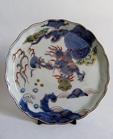 Fine Ko Imari Ryu-mon Tray Dish Mid Edo c.1750