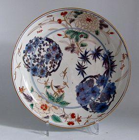 Large Ko Imari Shochikubai Roundels Dish c.1730
