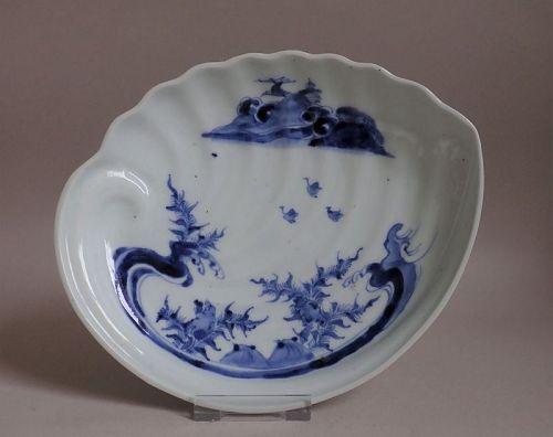 Ko Imari Arita  Sometsuke Horai-zu Awabigata Dish c.1740 No 3