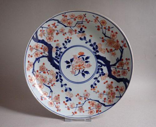 Rare Imari Export Prunus Pattern Dish c.1700