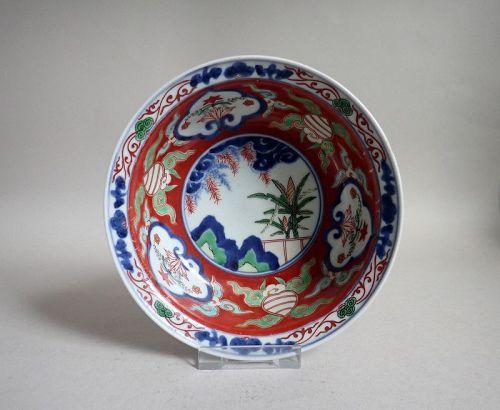Fine Ko Imari Kinrande Bowl Early 18th Century