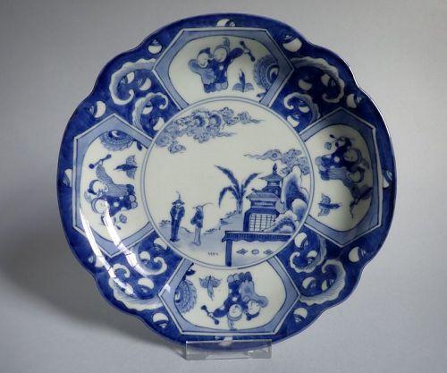 Ko Imari Tojin and Karako Dish circa 1780