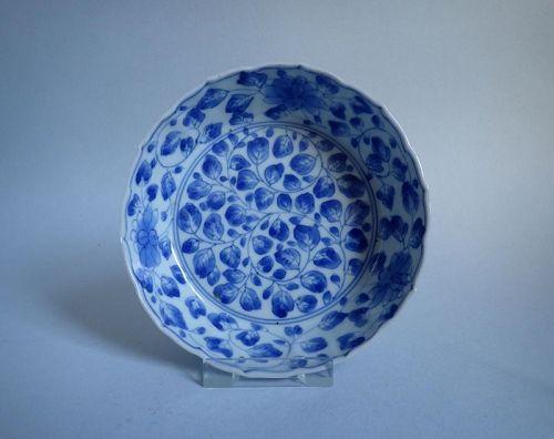 Ko Imari Arita Peony-mon Barbed Form Bowl c. 1680-1700
