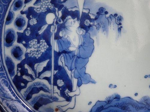 Ko Imari Tekkai-zu Oval Dish Late 18th Century Edo