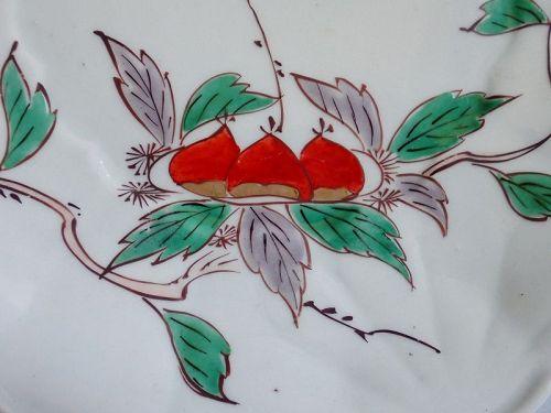 Imari Export Chestnut Pattern Kikugata Dish c.1740.