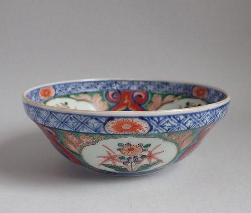 Rare Kenjo Imari Nadeshiko-zu Bowl Edo c.1720