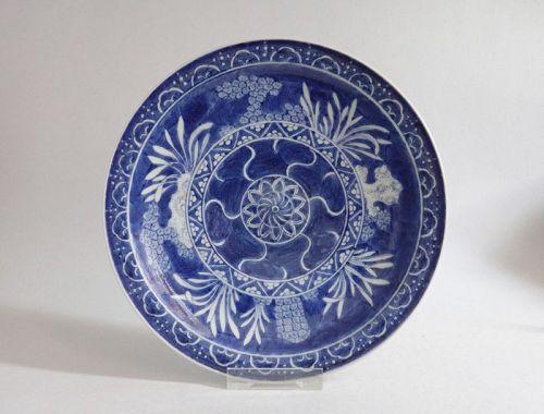 Rare Ko Imari Marine Subject Plate c.1780 No 1