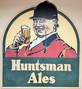 HUGE VINTAGE HUNTSMAN ALES PUB TRADE SIGN ADVERTISING