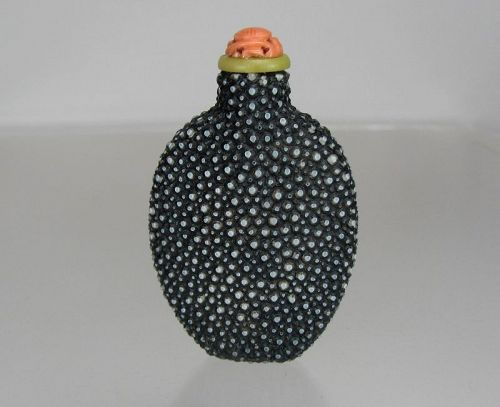 Chinese Shagreen Snuff Bottle - Rare