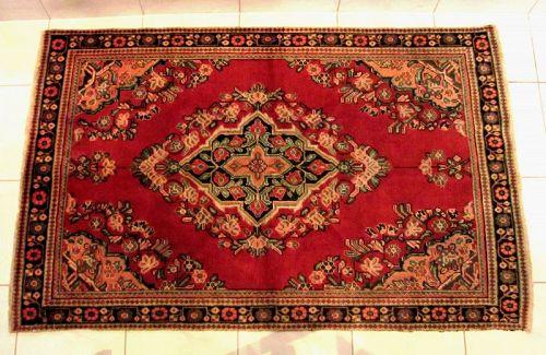 Antique Persian Lilihan Hand Knottled Rug, Circa1920