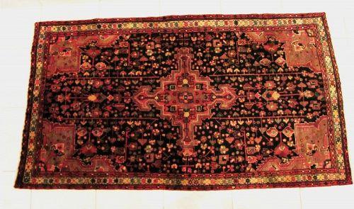 Antique Persian Bijar Heriz Serapi Hand Knotted Rug, Circa 1920