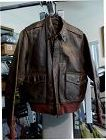 WWII Original US Army Air Corps Named A-2 Flight Leather Jacket #4