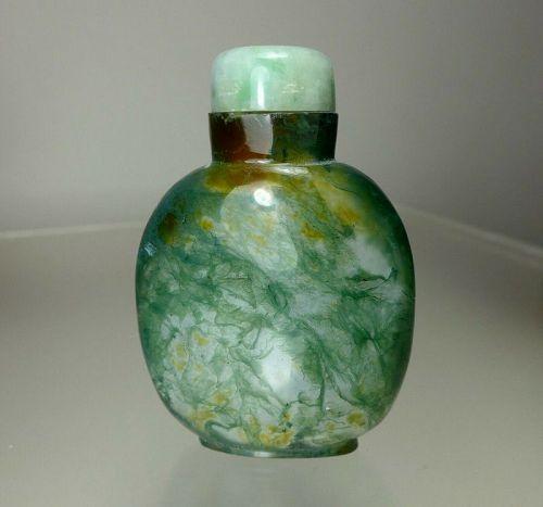 MOSS AGATE Snuff Bottle, C. 1760-1860