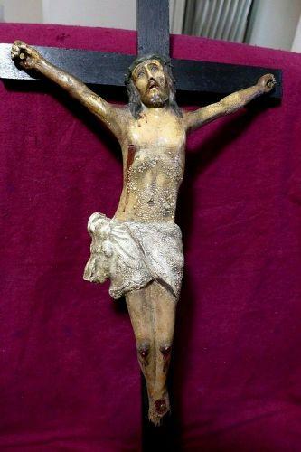 Superb Spanish Wooden Polychrome Sculpture of Christ - Circa: 18 Centu