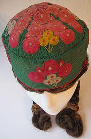 A Hazara cap from Bamiyan - circa mid 20th century